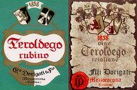 Etichetta Teroldego anni 1952 e 1970